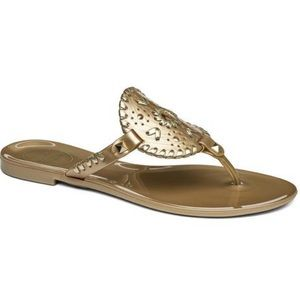 Jack Rogers Gold Georgica Jelly Sandals